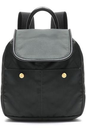 MARNI حقيبة ظهر من قماش مقاوم للماء مزيّنة بالجلد