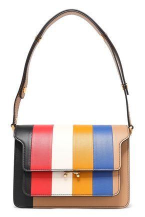 MARNI Striped leather shoulder bag
