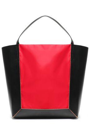 MARNI Shopper two-tone shell-paneled leather tote