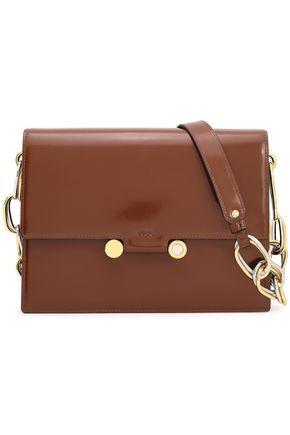 MARNI Chain-embellished leather shoulder bag