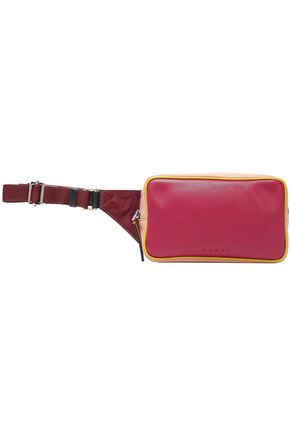 MARNI حقيبة بحزام من قماش مقاوم للماء ومن الجلد متباينة الألوان