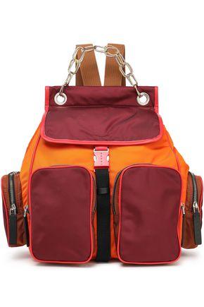 MARNI حقيبة ظهر متباينة الألوان ومزيّنة بالجلد