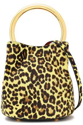 MARNI Leopard-print calf hair bucket bag