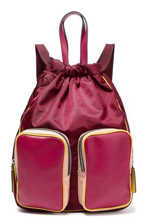MARNI Leather-paneled color-block backpack