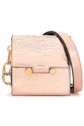 MARNI Metallic cracked-leather shoulder bag