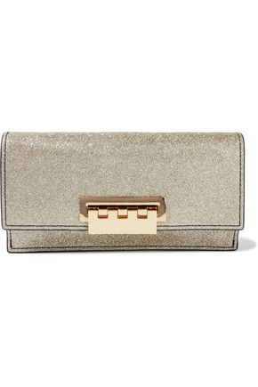 ZAC ZAC POSEN Earthette glittered leather clutch