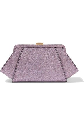 ZAC ZAC POSEN Posen glittered leather clutch