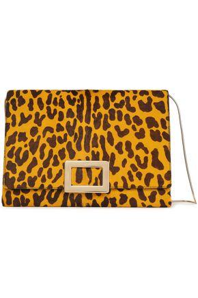 ROGER VIVIER Leopard-print calf hair shoulder bag
