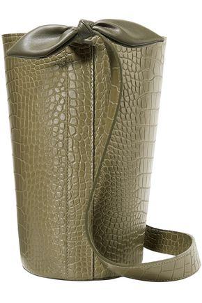 """NANUSHKA حقيبة باكت """"كات"""" من الجلد النباتي بنمط التمساح"""