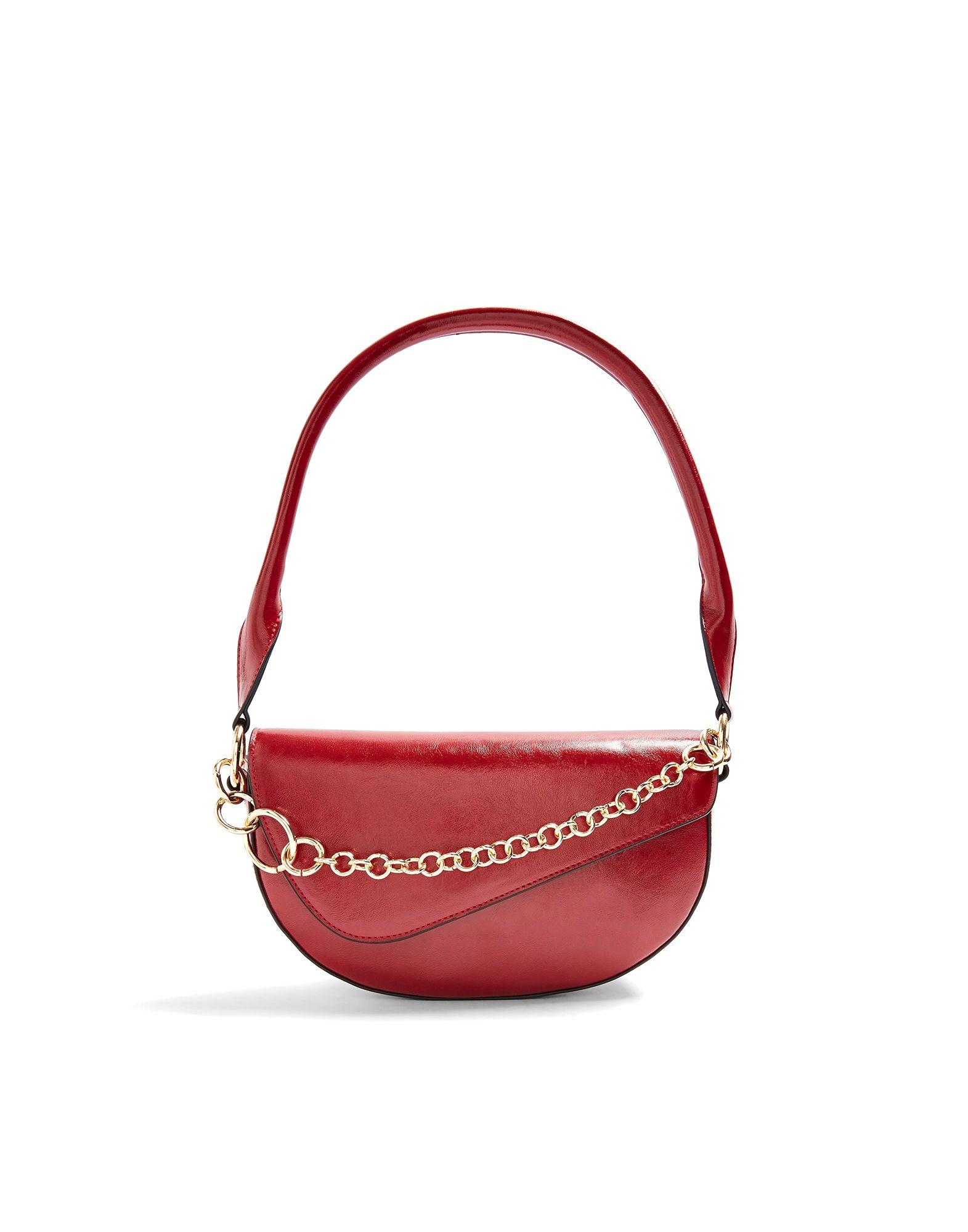 《セール開催中》TOPSHOP レディース ハンドバッグ レッド ポリウレタン 100% SIENNA RED SHOULDER BAG