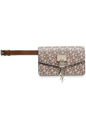 DKNY Appliquéd printed faux leather belt bag