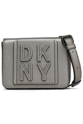 DKNY Appliquéd faux leather shoulder bag