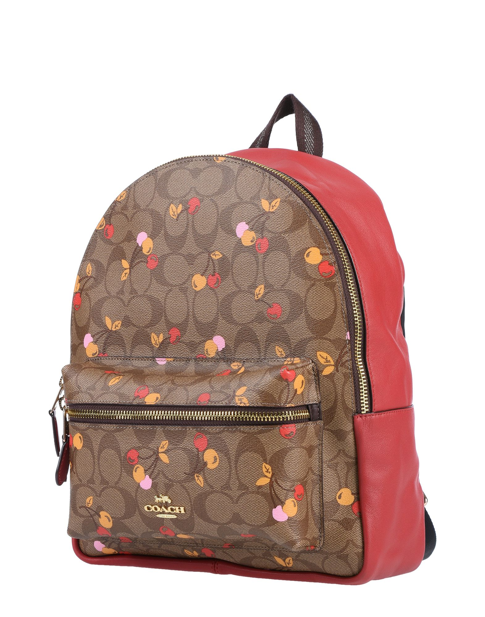 COACH Backpacks & Fanny packs. medium, logo, multicolor pattern, zip, external pockets, internal zip pocket, bag handle, fully lined, contains non-textile parts of animal origin. Soft Leather
