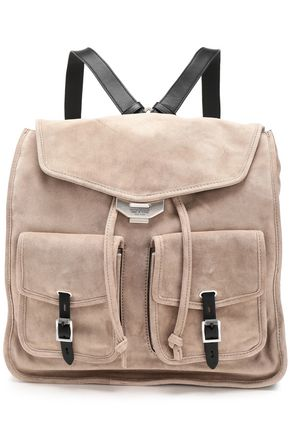 RAG & BONE Leather-trimmed suede backpack