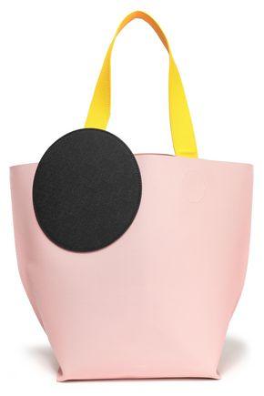 ROKSANDA Color-block pebbled-leather tote