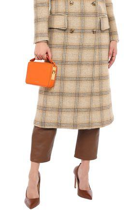 Sophie Hulme The Mini Trunk Leather Shoulder Bag In Orange