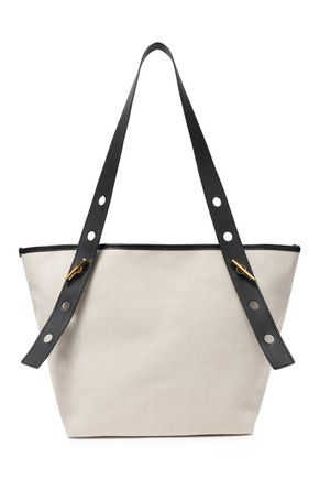 SOPHIE HULME Bolt leather-trimmed canvas tote