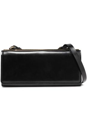 SOPHIE HULME Spine glossed-leather shoulder bag