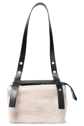 SOPHIE HULME The Bolt shearling and leather shoulder bag