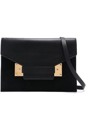 SOPHIE HULME Milner suede and matte-leather shoulder bag