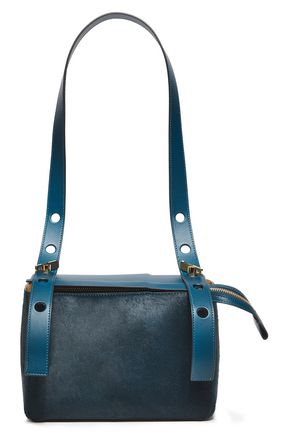 SOPHIE HULME The Bolt calf hair and leather shoulder bag