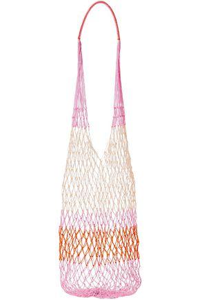 SOPHIE ANDERSON Color-block macramé shoulder bag