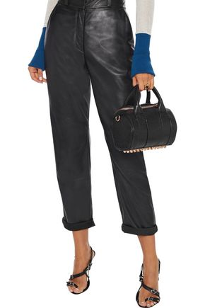 Alexander Wang Mini Rockie Textured-leather Tote In Black