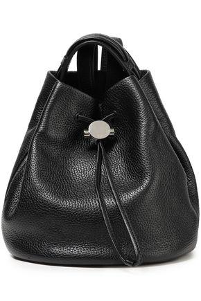 KARA Pebbled-leather backpack