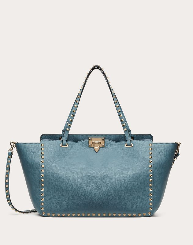 Medium Rockstud Grainy Calfskin Bag