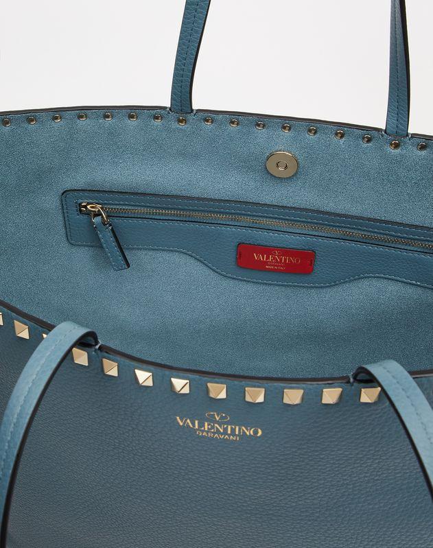 Rockstud Grainy Calfskin Tote Bag