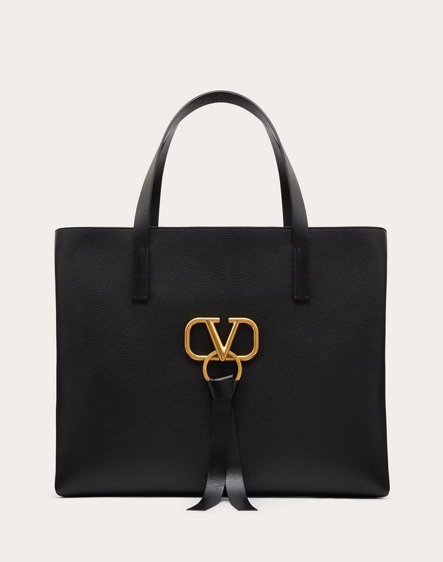 E/W VRING Grainy Calfskin Tote Bag