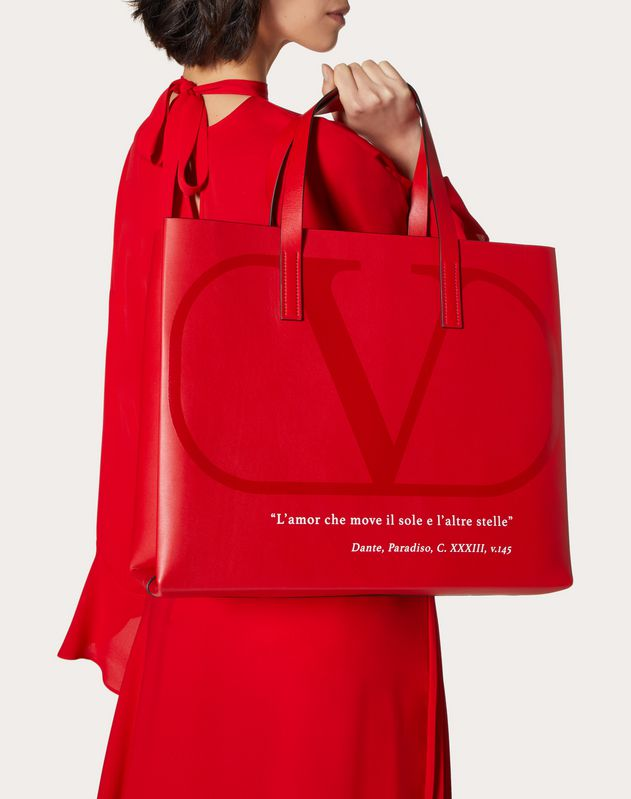 Горизонтальная сумка-шоппер VALENTINO GARAVANI LOVE LAB