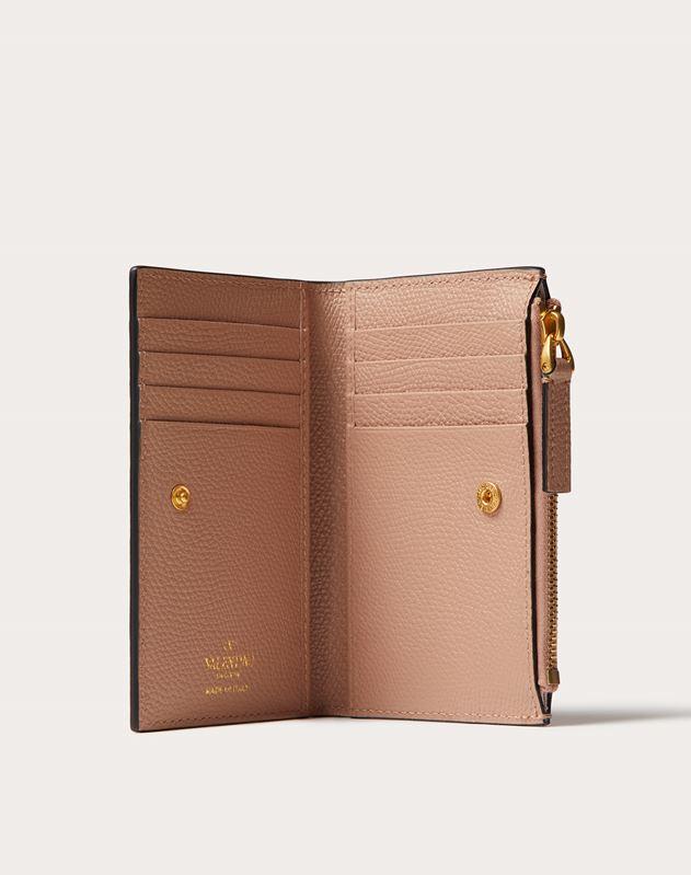 VSLING GRAINY CALFSKIN CARDHOLDER WITH ZIP