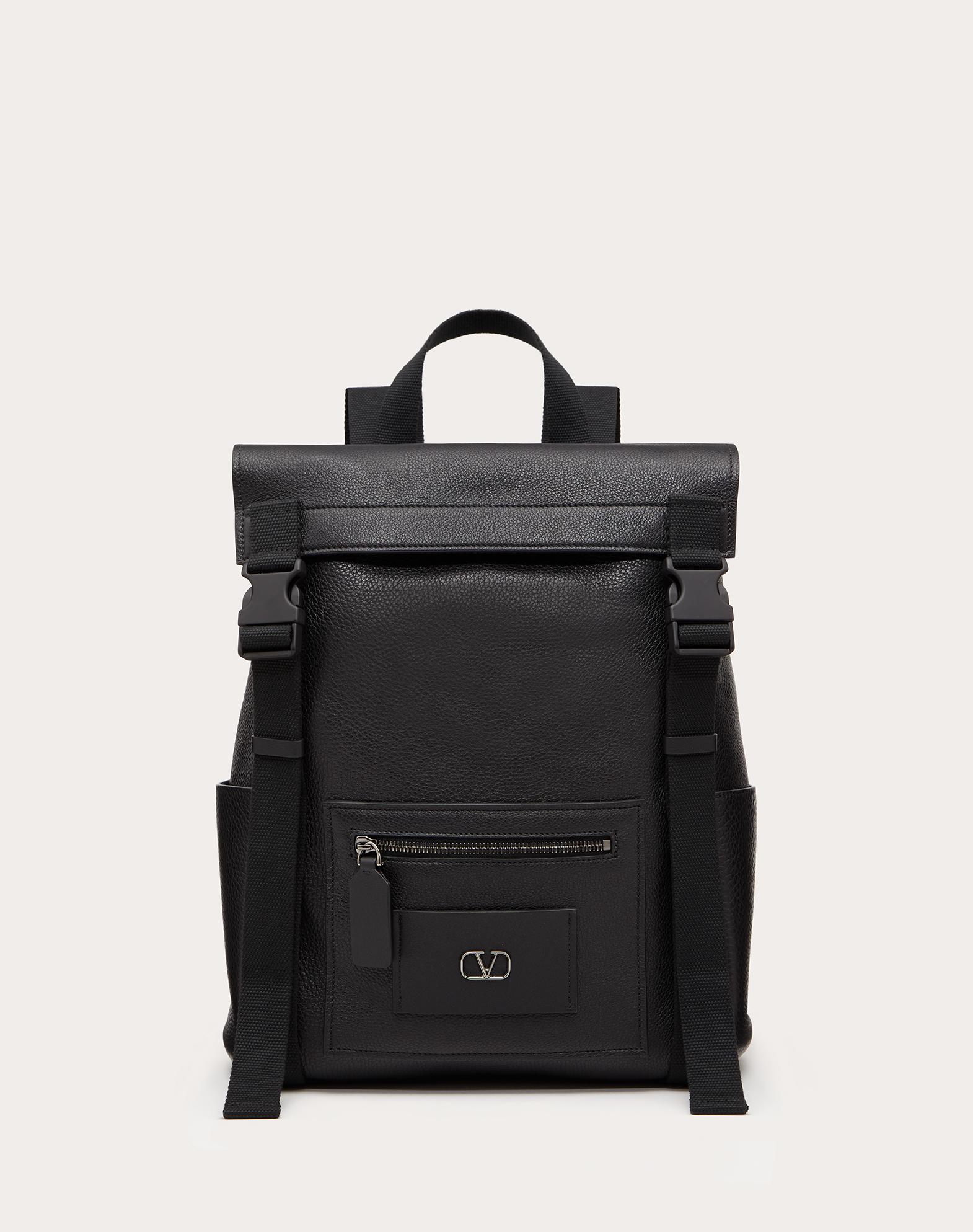 VLOGO Elk-Print Calfskin Leather Backpack