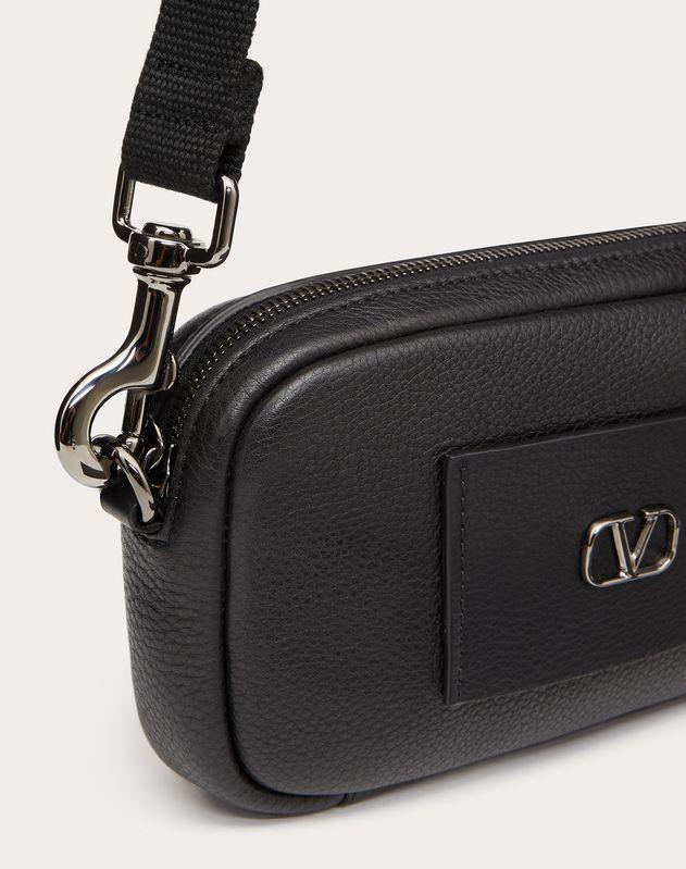 VLOGO Elk-Print Calfskin Belt Bag