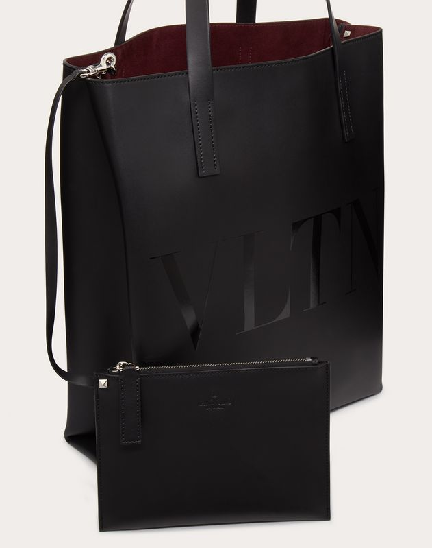 VLTN Leather Tote Bag