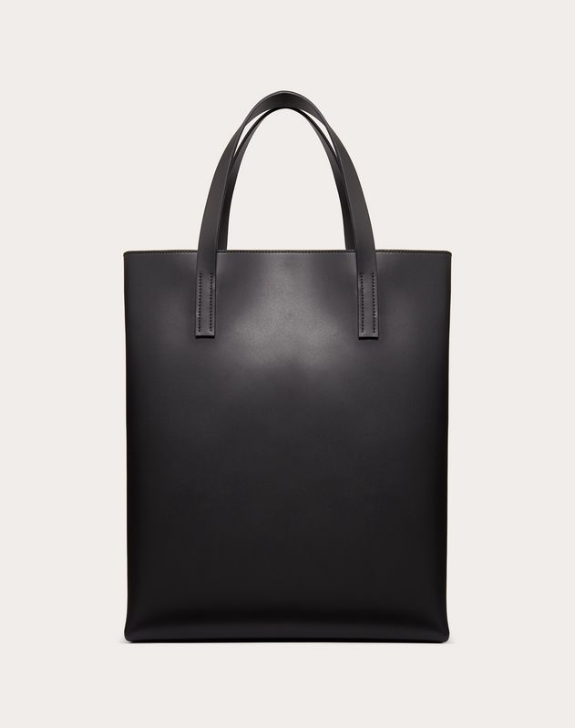 VLTN Leather Tote Bag.