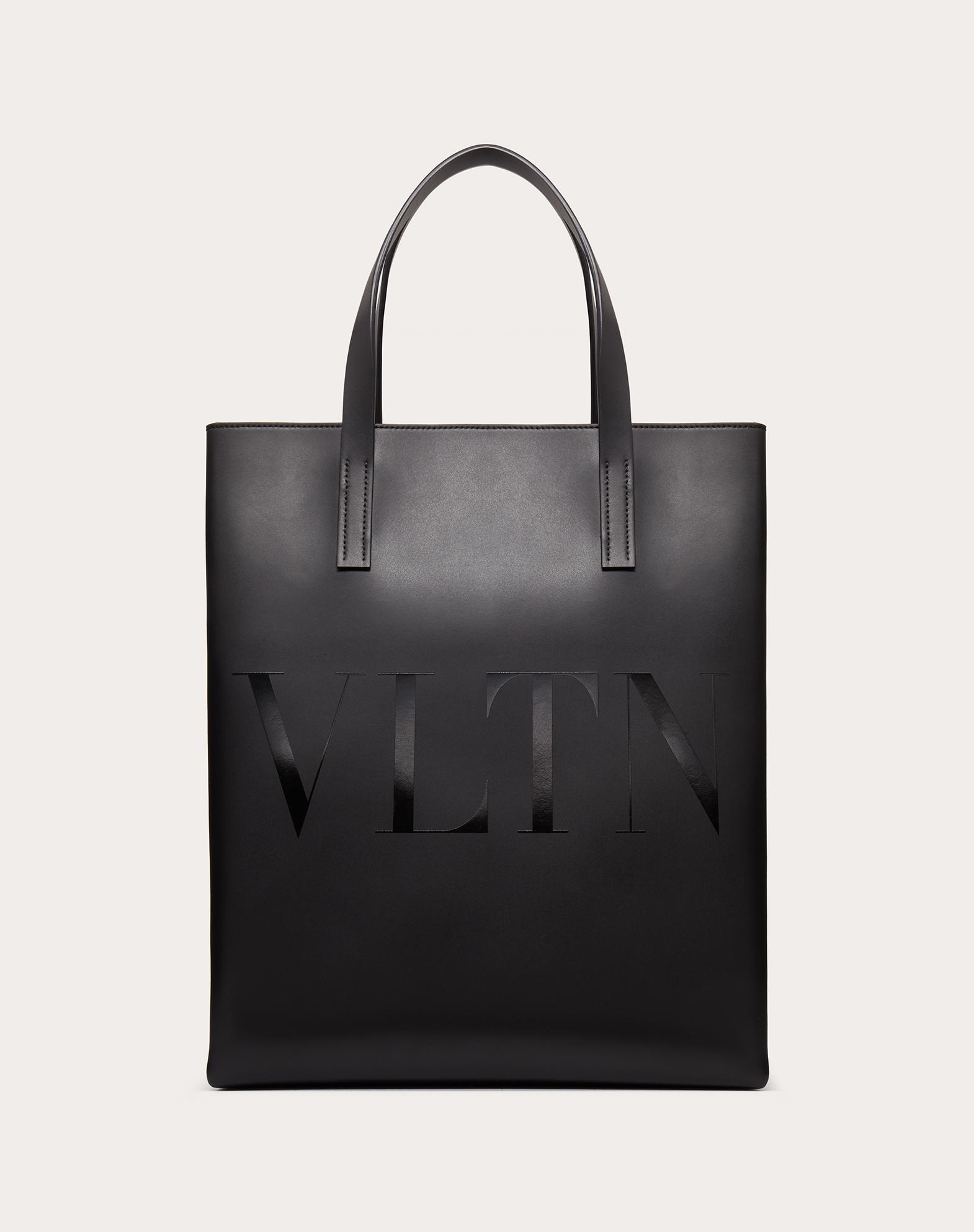 VLTN Leather Tote Bag.