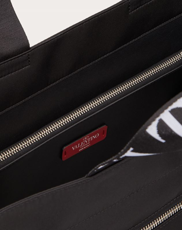 Nylon Tote Bag with VLTN Straps