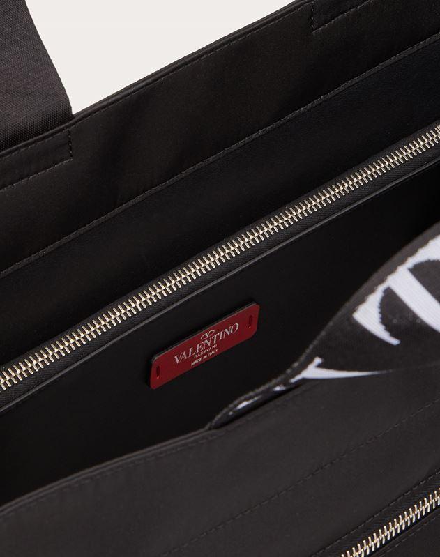 Shopper aus Nylon mit VLTN-Bändern