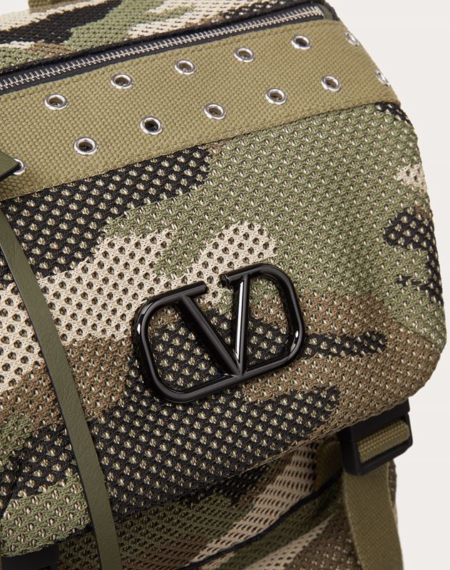 Camouflage Mesh Fabric Backpack