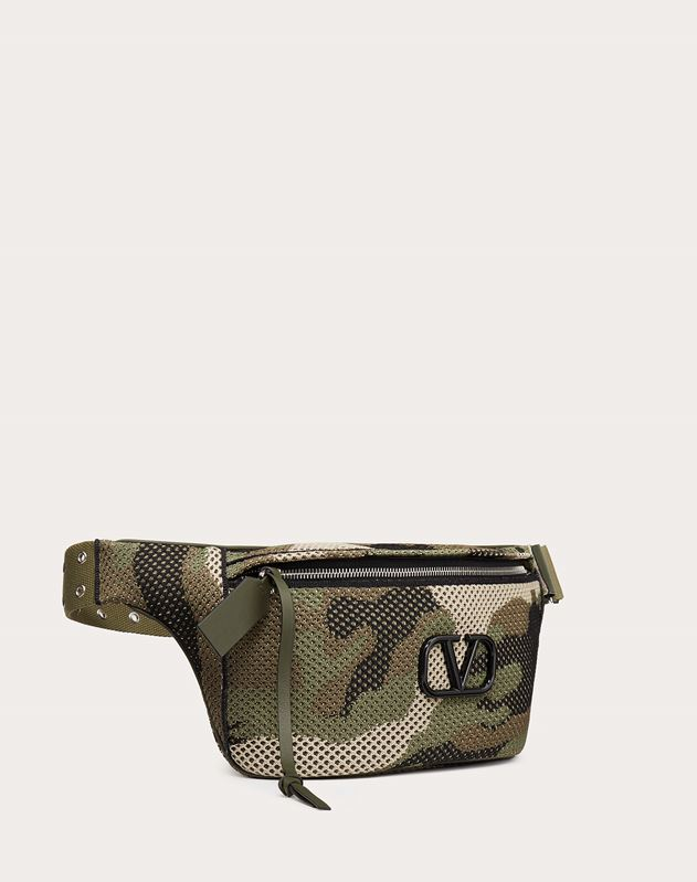 Camouflage Mesh Fabric Belt Bag