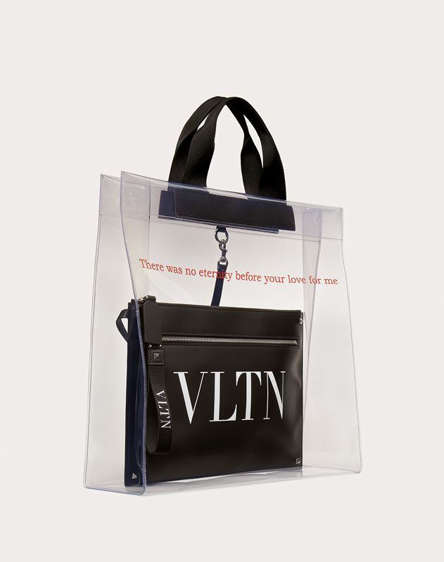 VLTN Transparent Tote Bag