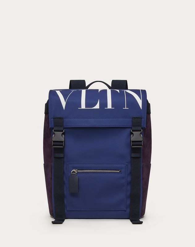 VLTN Nylon and Crust Leather Backpack