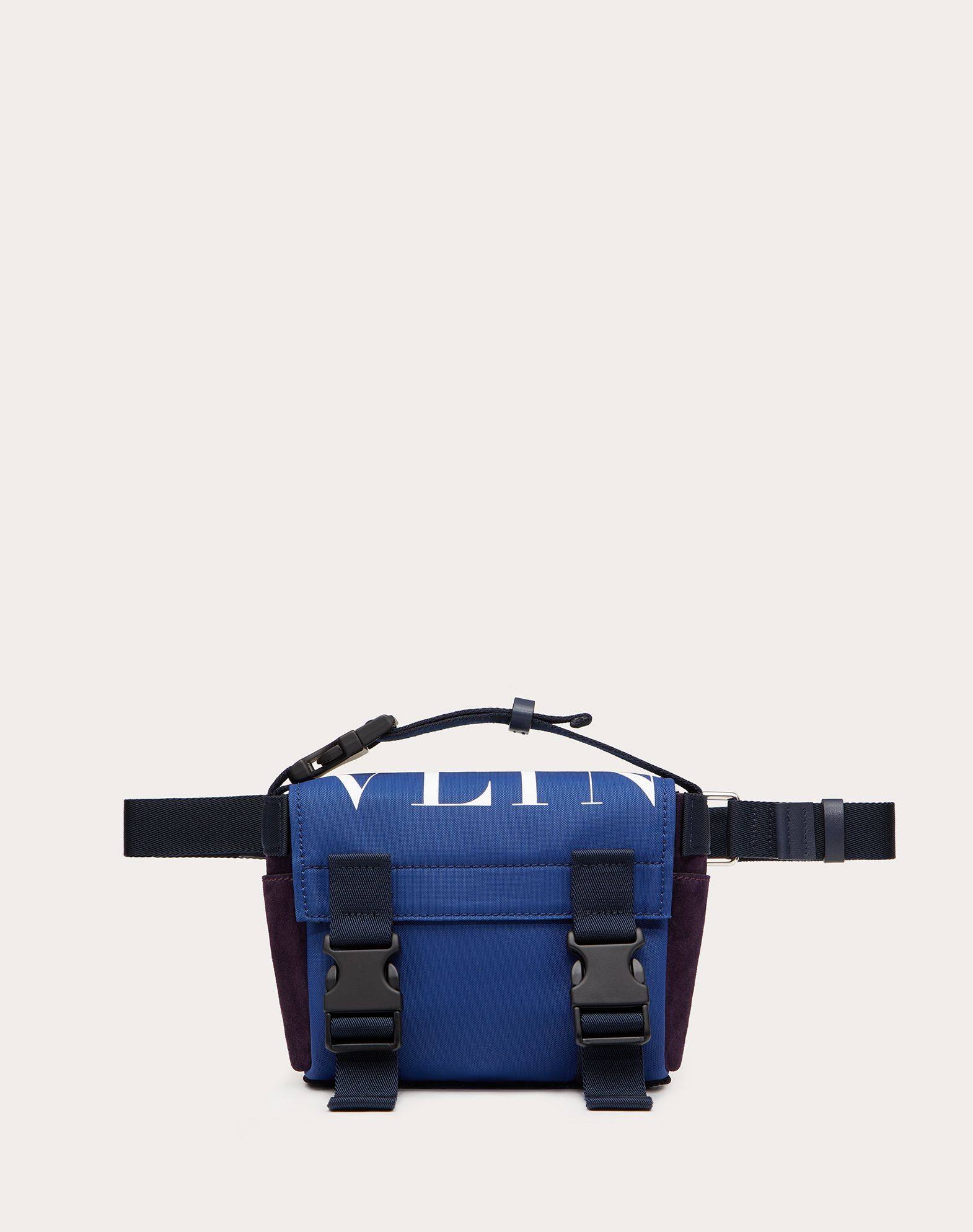 VLTN Nylon and Crust Leather Belt Bag