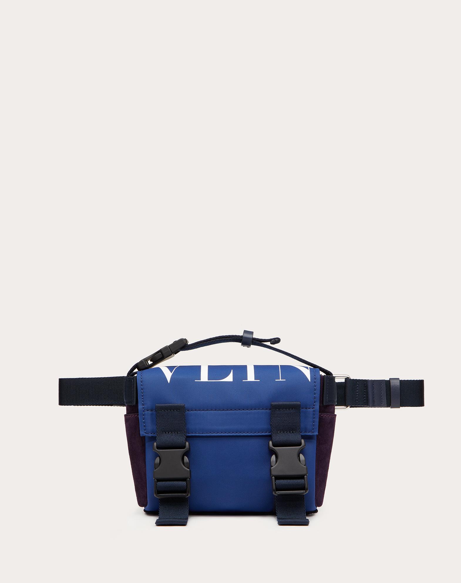 VLTN Nylon and Crust Leather Belt Bag