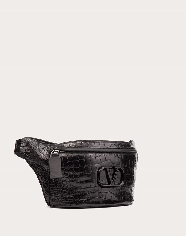 VLOGO Crocodile Belt Bag