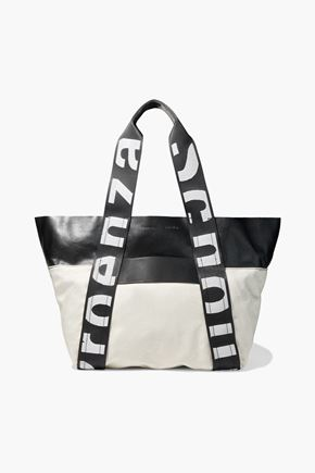 PROENZA SCHOULER Leather-paneled canvas tote
