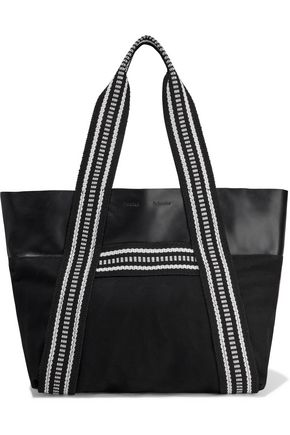 PROENZA SCHOULER East/West leather and canvas tote