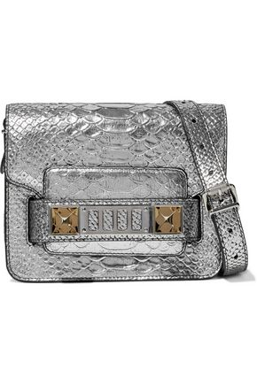 PROENZA SCHOULER PS11 metallic snake-effect leather shoulder bag